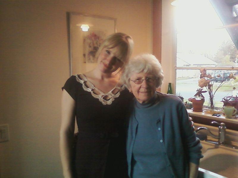 Amanda and Grandma Taffy